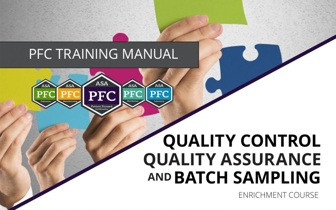 Qaqc And Batch Sampling Patient Focused Certification